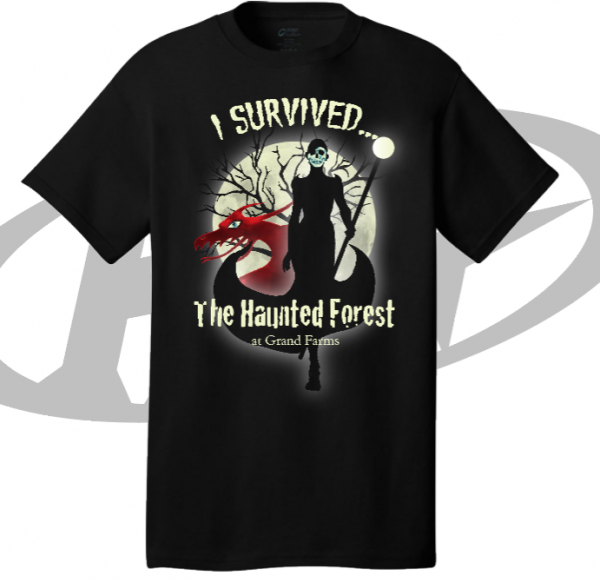 merchandise haunted forest at grand farms teeshirt